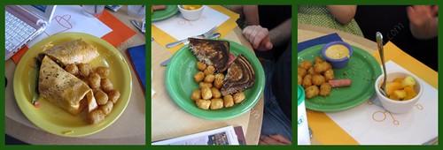 Meals at the Crayola Cafe, Crown Center, Kansas City, Missouri