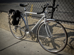 Surly Cross Check with Ortleib Pannier.