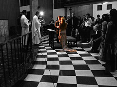 """Acepto"" / ""I Do"" (Pankcho) Tags: wedding love robert blancoynegro church cutout blackwhite floor amor venezuela boda chess iglesia chapel caracas explore checkered matrimonio ajedrez selectivecolor piso capilla cuadritos supershot anali santagema theperfectphotographer boleita"