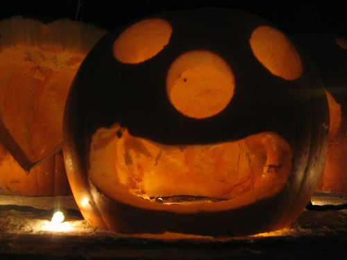Calvin and Hobbes snowman head pumpkin