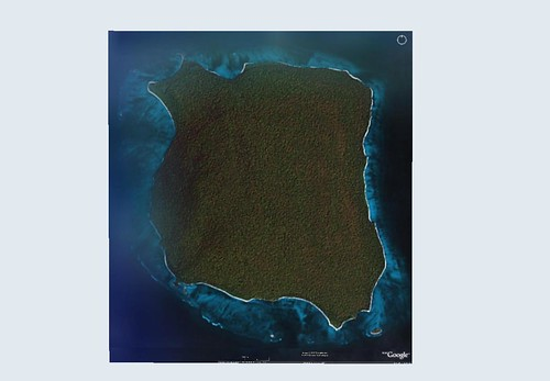 North Sentinel Island - Landsat ETM+ Image Pre-2004 From Google Earth (1-62,500)