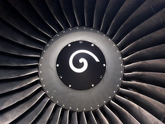 Big Fan (Lost in Transition) Tags: airbus jetengine fanblades lufthansa skyhigh flyinhigh cfm56 lostintransition matthiasfranke marrymeflyforfree