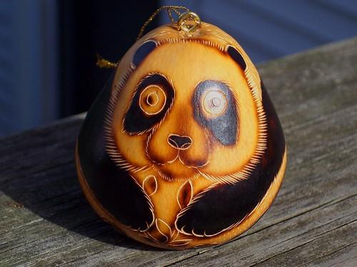 wild-eyed panda