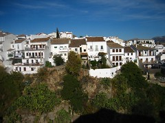 White buildings in Ronda