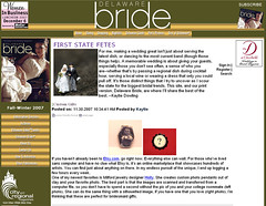 Feature on www.delaware-bride.com on 11/30/07