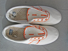 Painted Shoes, Orange Trim