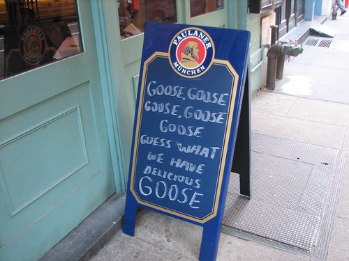 sign outside the SIlver Swan