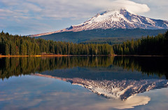 Mt. Hood Cloud Cover (RichGreenePhotography.com) Tags: travel trees sky usa mountain snow reflection clouds oregon forest landscape volcano nikon mthood glaciers thumbsup trilliumlake twothumbsup bigmomma 0917 d80 thechallengefactory richgreenephotography