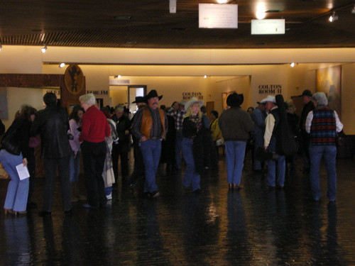 Gathering after the Cowboy Coffee Hour