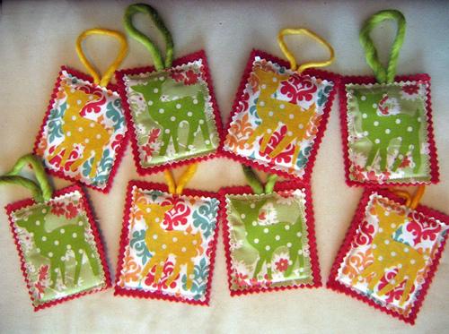Linda's deer ornaments!
