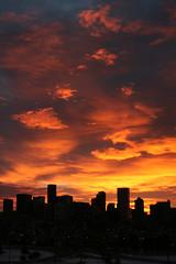 denver sunrise (all city) Tags: winter sunrise colorado denver 630am