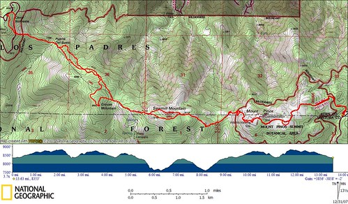 Ridge Traverse Topo Map