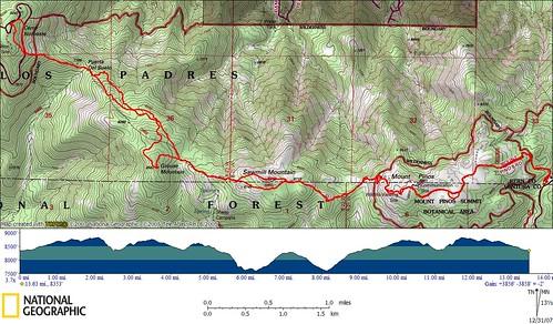 Ridge Traverse Topo Map