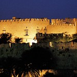 Rhodes: Castelo by night