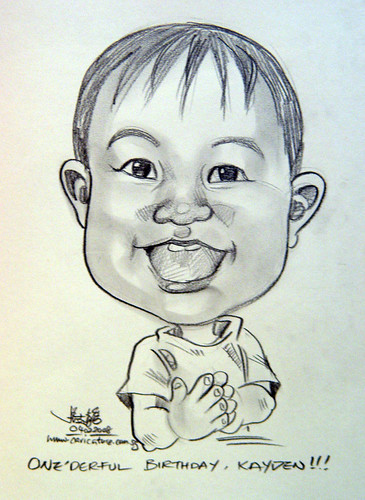caricature One'derful birthday