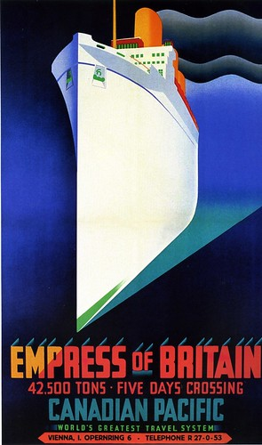 Poster, Empress of Britain, Canadian Pacific