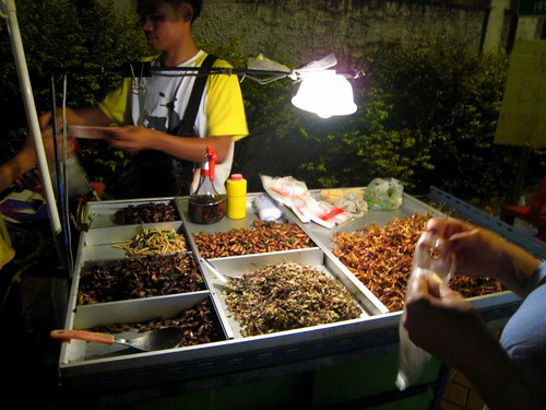 We finally found a guy selling insects!