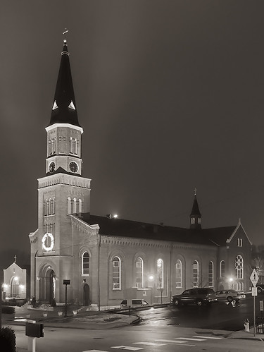 Saint Peter Roman Catholic Church, in Saint Charles, Missouri, USA - exterior