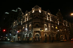 the driskill hotel at night