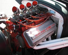 DeSoto Engine in a Rat Rod (Dusty_73) Tags: show street classic car vintage rat kodak engine fresno rod hemi chrysler mopar v8 desoto roadster firedome derod dehemi