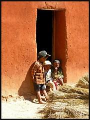 3 little boys (Z Eduardo...) Tags: africa boy people colors wall rural island kid village madagascar mywinners abigfave anawesomeshot aplusphoto