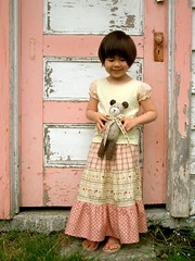 Tiered Skirt (PatchworkPottery) Tags: girls japanese clothing handmade sewing skirt fabric tiered twirly