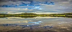 Anevatnet (wimvandemeerendonk) Tags: reflection bright blue contrast color colors colours colour clouds cloud green landscape light mountain mountainscape nature norway outdoors outdoor panorama ripples sony sky sun scenic summer ultrawide valley wimvandem water wetlands greatphotographers