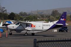 N930FE Cessna 208 Fedex (eigjb) Tags: aircraft airplane aeroplane plane spotting aviation turboprop california usa 2014 transport n930fe cessna208 fedex caravan cargo feeder federal express petaluma municipal airport c208