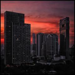 Sunset Over Bangkok (Armin Fuchs) Tags: arminfuchs bangkok thailand sunset sonnenuntergang abendrot skyscrapers