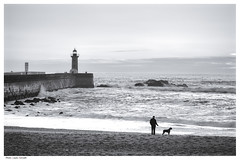 Atlantic Ocean (Laszlo Horvath.) Tags: porto portugalia ocean atlantic dog lighthouse nikon50mmf18g nikond7100