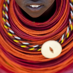 Rendille tribe girl wearing plenty of beaded nekclaces - Kenya (Eric Lafforgue) Tags: africa detail beads kenya culture tribal tribes bouche bead afrika tradition tribe ethnic month tribo jewel necklaces afrique ethnology tribu eastafrica collars beadednecklace qunia parure 6077 lafforgue ethnie rendille rendile  qunia    beadsnecklace kea    a