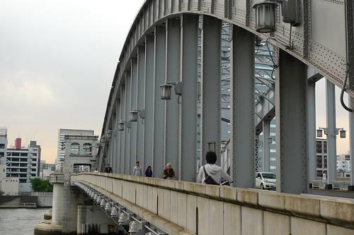 勝どき橋。