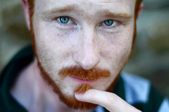 closer to frederic (sharkoman) Tags: portrait 50mm ginger redhead occhi firenze ritratto faun frederic incontro barbarossa 2011 fauno mrpan sharkoman