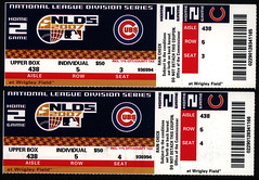 Cubs playoff tickets NLDS game four, 2007