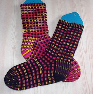 Knit one below Elise Duvekot Stained Glass Socks Ravelry