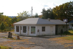 Former gas station, west side of Sideling Hill