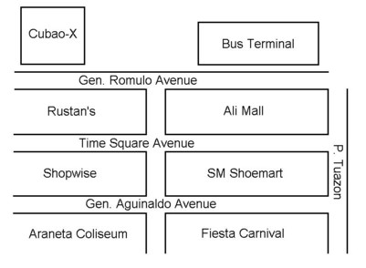 Cubao-X Map
