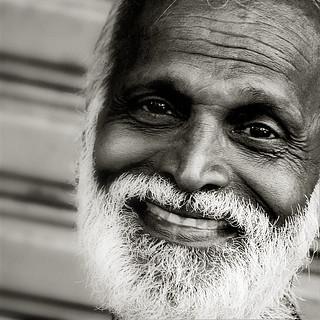 White-bearded smile