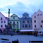 Cesky Krumlov: Fountain on the Square