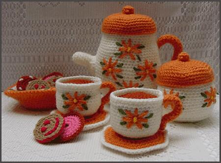 Ravelry Tea Set Pattern By Paola Navarro