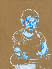 self-portrait #11 guache on cardboard 8