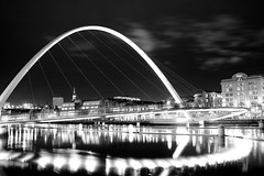 the eye (jonoakley) Tags: white black eye night canon newcastle eos long exposure millenium gateshead 400d newcastlecentric