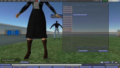 Second Life: Making Clothes: 4 - Select Tab to Make Underpants