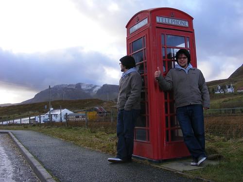 Cabina de teléfono en Skye