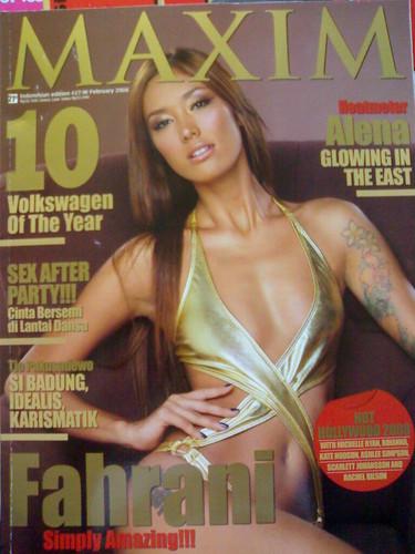 foto telanjang fahrani di majalah Maxim 2008