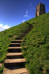 Glastonbury Tor (Dan Norcott) Tags: green church path glastonbury winding