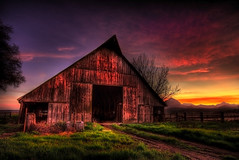 105 Year Old Birthday (Extra Medium) Tags: sunset mountains clouds barn rural scenery farm hdr sutterbuttes ruralcalifornia 105yearsold