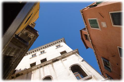 blue sky in Venice