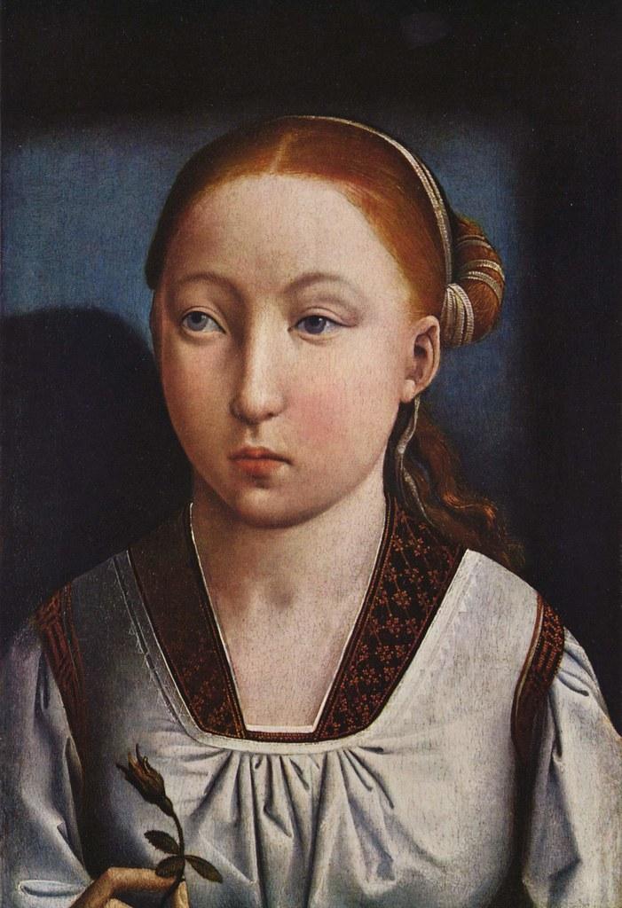 JUAN DE FLANDES Portrait of a Girl c1500-1510