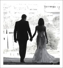 Going out (andzer) Tags: wedding light camp people bw white black out groom bride couple married dress military going andreas greece macedonia thessaloniki myfaves salonica handinhand  zervas  betterthangood andzer   kodras